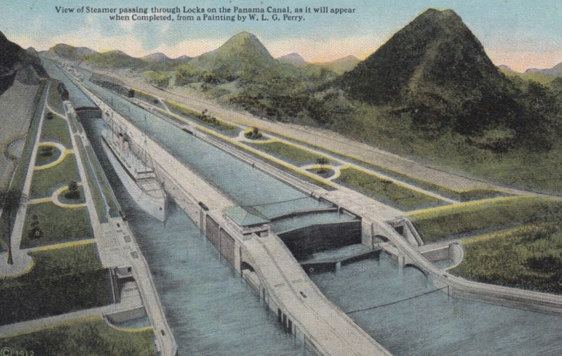 Steamer in Panama Canal Locks , 00-10s