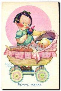 Old Postcard Fantasy Illustrator Child Beatrice Mallet Small mom
