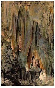 New Mexico , Carlsbad Caverns, Draperies in Queen's Room