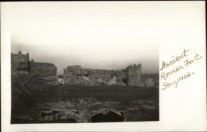 Smyrna Turkey Ancient Roman Fort c1910 Real Photo Postcard rtw