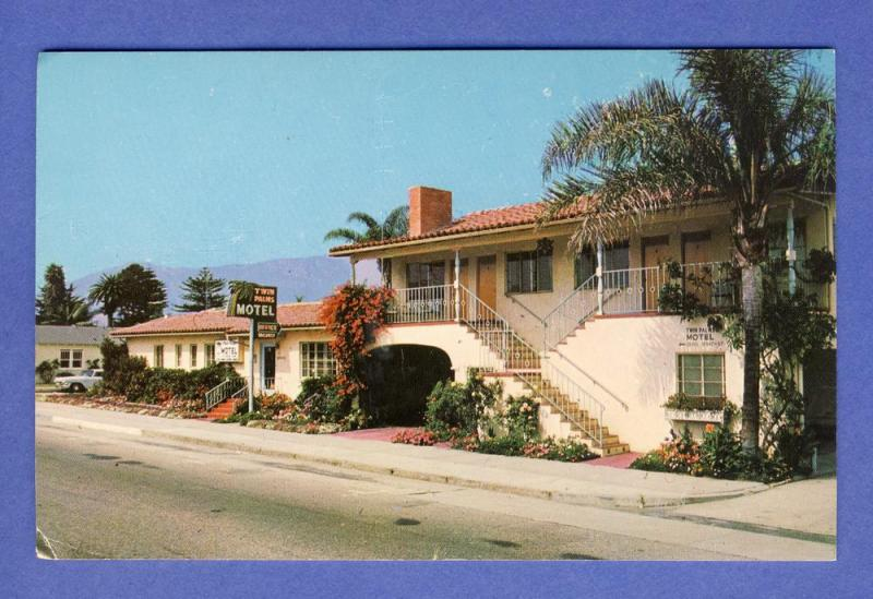 Santa Barbara, California/CA Postcard, Twin Palms Motel