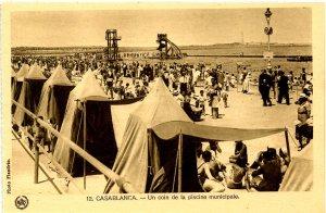 Morocco - Casablanca. A Corner of the Municipal Swimming Pool