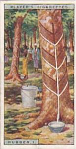 Player Vintage Cigarette Card Products Of The World 1928 No 31 Rubber 1 Tappi...