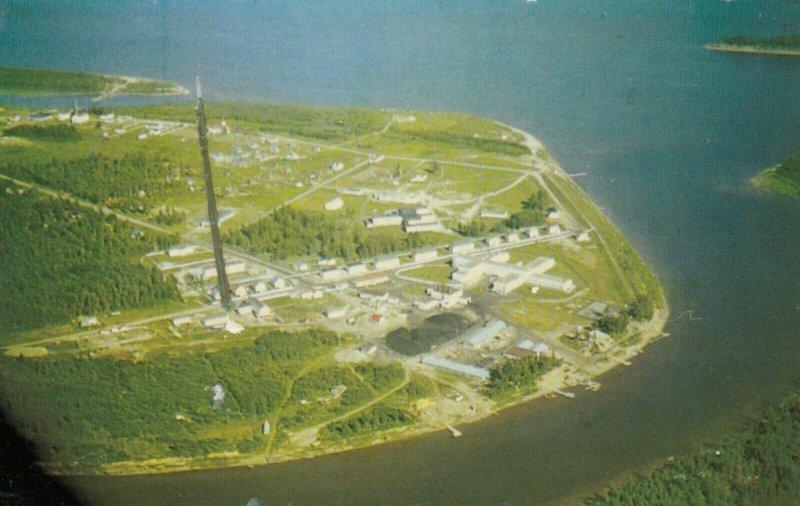 MOOSE FACTORY ISLAND, Ontario, Canada , 50-60s; Aerial View