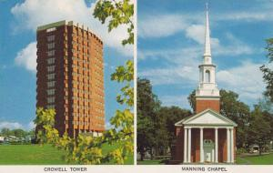 Crowell Tower, Manning Chapel, Acadia University, Wolfville, Nova Scotia, Can...