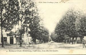 south africa, MIDDELBURG, Cape Colony, Richmond Road from Market Square (1904)