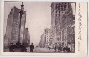 1906 Earthquake, Newspaper Row, San Francisco CA