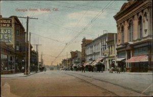 Vallejo CA Georgia St. c1910 Postcard
