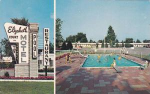 Elizabeth Court Motel , LONDON , Ontario , Canada  , 50-60s