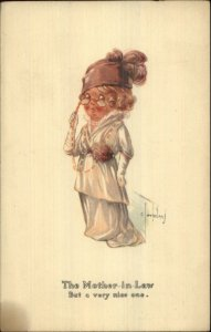 Charles Twelvetrees Little Girl Plays Mother-in-Law Alpha c1915 Postcard