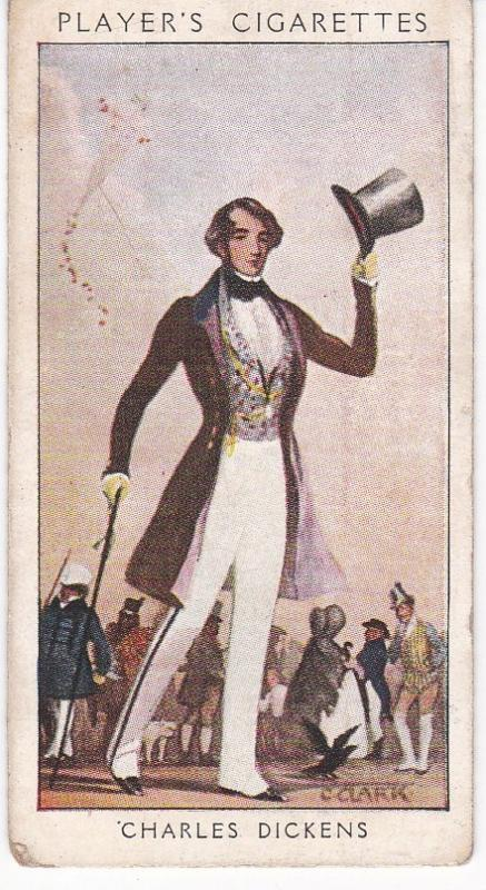 Cigarette Card Player's Dandies No 45 Charles Dickens