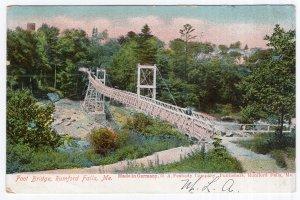 Rumford Falls, Me., Foot Bridge