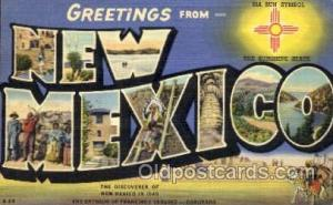 Greetings From New Mexico, USA Large Letter Town 1946 close to perfect corner...
