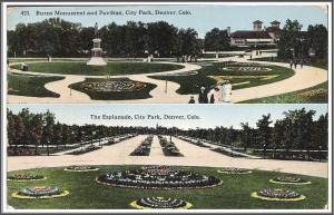 Colorado Burns Monument Postcard