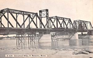 H Matamoros Mexico Postcard Tarjeta Postal International Bridge H Matamoros