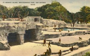 TX - San Antonio. Brackenridge Park, Monkey Island