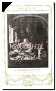 Old Postcard Chocolate Vinay The stove Dutch