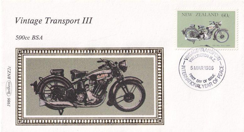 550cc Triumph Motorcycle New Zealand Bike Benham First Day Cover