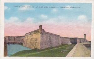 Fort Marion Showing Hot Shot Oven In Rear Saint Augstine Florida