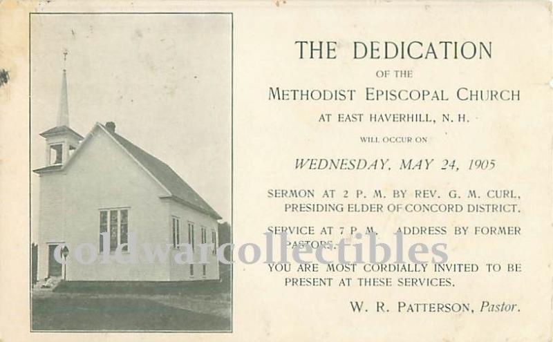 E Haverhill, NH Methodist Episcopal Church Dedication 1905 Private
