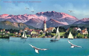 Germany Starnberger See Seeshaupt mit Benediktenwand Unposted 03.23