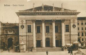 Belluno Italy Teatro Sociale Editura U. Cavinato fcartolina animata 1920s