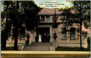 1909 AYPE EXPO Seattle World's Fair Postcard Emergency Hospital View Unused