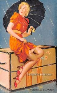 Disturbing Elements 1945 Mutoscope Artist Pin Up Girl, Non Postcard Backing U...