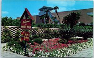 Tampa, Florida Postcard BUSCH GARDENS Entrance Sign Budweiser Brewery c1960s