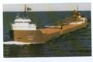 S.S Elton Hoyt 2nd, Iron Ore Pellets Hauler, 1991 Chrome  Advertising Card