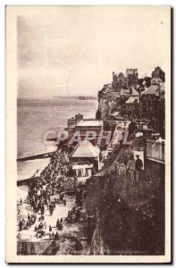 Old Postcard Ault Beach and Cliffs