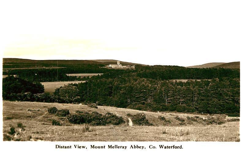 COUNTY WATERFORD IRELAND MOUNT MELLERAY ABBEY DISTANT VIEW PHOTO POSTCARD c1940s