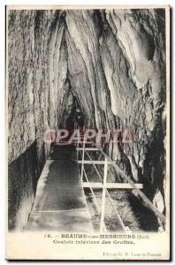 Old Postcard Baume les Messieurs Caves Interior Corridor