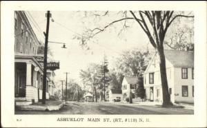 Ashuelot NH Main St. Postcard