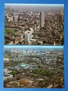 Set of 2 London Aerial View Postcards from GPO Post Office Tower BP8