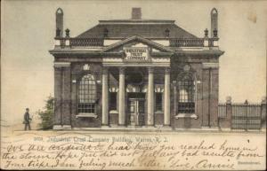 Warren RI Bank Trust Co c1910 Postcard