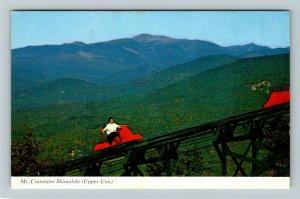 North Conway NH- New Hampshire, Mt. Cranmore Skimobile, Chrome Postcard