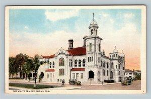 The White Temple, Vintage Miami Florida Postcard