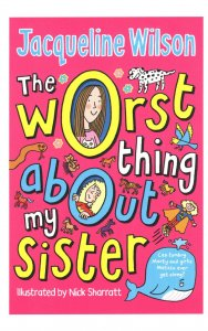 Jacqueline Wilson The Worst Thing About My Sister Book Postcard