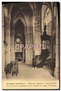 Postcard Old St Sulpice De Favieres Nef Chair
