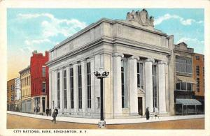 Binghamton New York City National Bank Antique Postcard J77281