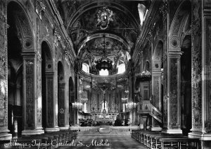 Italy Albenga The Interior of the Cathedral of St Michale Postcard