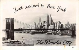 12345  New York City  1930's   Brooklyn Bridge Real Photo  A.Mainzer Publ.