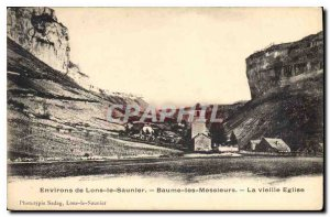 Old Postcard Around Lons le Saunier Baume les Messieurs Old Church
