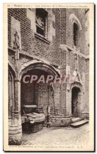 Old Postcard Tours Inner courtyard of the house of Tristan The Hermit Prevot ...