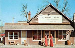 Bridgeton Indiana Sassafras Kitchen Restaurant Vintage Postcard J56695
