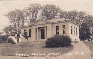 Maine Alfred Parsons Memorial Library 1917 Real Photo RPPC