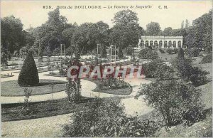 Old Postcard Bois de Boulogne The Rose Garden Bagatelle