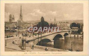 Old Postcard Rouen Pont Corneille Vue Generale