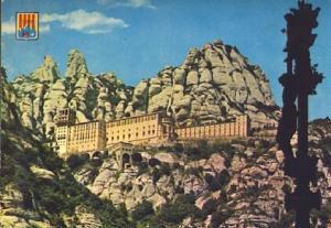 POSTAL 57358: Montserrat Visa del Monasterio desde el camino de la cueva
